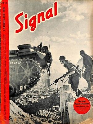 5348	SIGNAL	-No.	D	19-1942	SIGNAL German issue - illustrated german magazine	sol