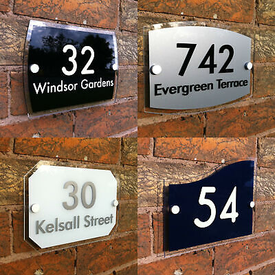 personalised HOUSE SIGN PLAQUE address house door number street name acrylic