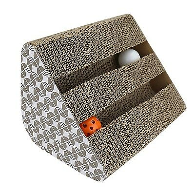 Cat Scratching Pads Chenci Cat Scratcher Cardboard Toy with Inside bell-Balls...