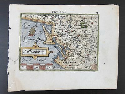 Prussiae descrip (Map of Poland, Eastern Europe); ORTELIUS; ca. 1595