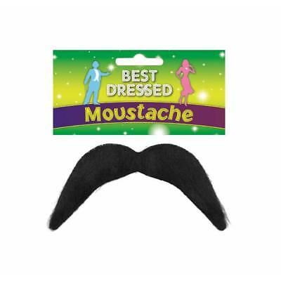 YMCA HIPPIE MEXICAN COWBOY BLACK MOUSTACHE TASH 80's FANCY DRESS