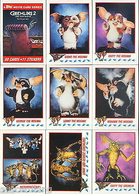 Gremlins 2 - Trading Card NEAR Set (87 of 88) - 1990 TOPPS - NM - (Missing #11)