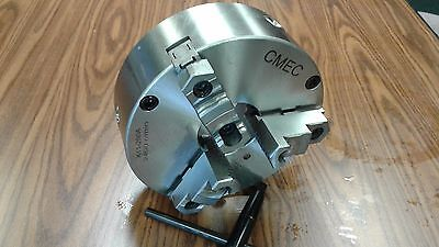 """10"""" 3-JAW SELF-CENTERING CHUCK, plain back, Front Mounting for rotary tables"""