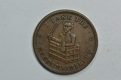 'I Take The Responsibility' Constitution HT-70 L-51Hard Times Token .99C Start