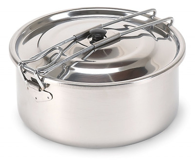 Stansport Solo Stainless Steel Cook Pot (1-Liter)