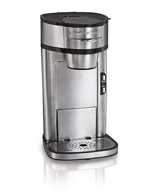 Hamilton Beach 49981A Single Serve Scoop Coffee Maker, Silver
