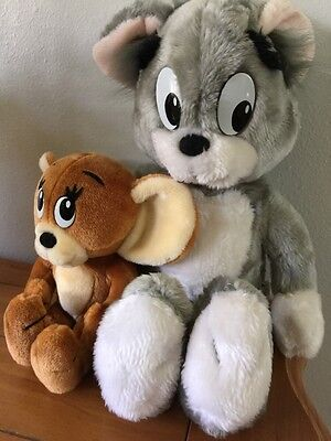 TOM & JERRY Plush Toy 1990 Stuffed Animal Collectible Turner Entertainment