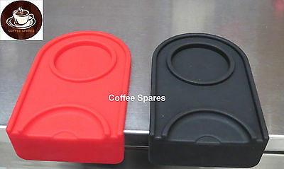 Coffee TAMPER MAT Food Grade Silicon 15 x 10 x 4.3cm 1cm thick - RED or BLACKs