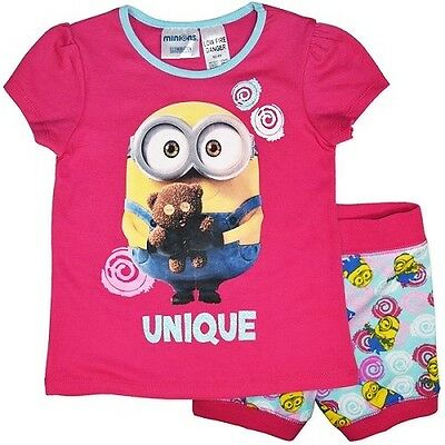 New Girls Licensed Minions Despicable Me Summer Pyjamas, PJs, Sleepwear, 3-6