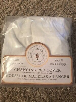 Burt's Bees Baby Solid Changing Pad Cover 100% Organic Cotton