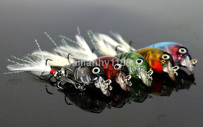1pc HOT Mini Crankbait Fishing Lure Crank Bait 3D Fish  Artificial Lure Bait AU