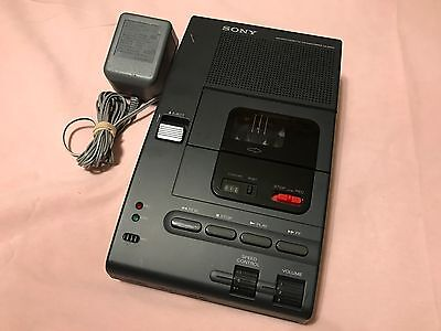 Sony M-2000 Micro Cassette Dictation Recorder Player w/Panasonic AC Adapter