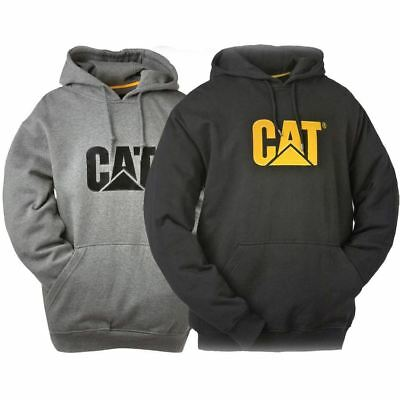 New Caterpillar CAT Men's Work Fishing Camping Trademark Hooded Sweatshirt Cheap