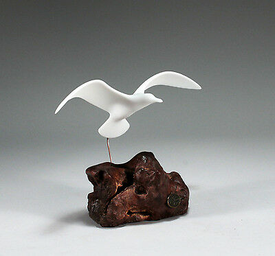 Seagull Flying Figurine New direct from JOHN PERRY 9in wingspan Statue Decor
