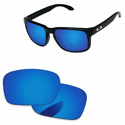 PapaViva Deep Blue Mirror Polarized Replacement Lenses For-Oakley Holbrook