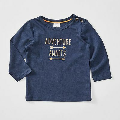NEW Baby Long Sleeve Adventure Awaits Print T-Shirt