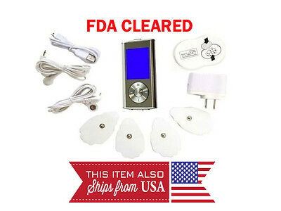 FDA Cleared TENS Unit Mini Electronic Digital Pulse Massager Full Body Massager