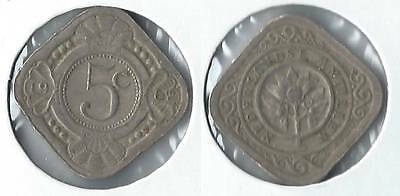 1962 Netherlands Antilles 5 cents coin