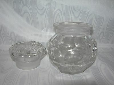 Antique~CUT CRYSTAL JAR~Ground Lid & Base~Amazing Miter Cuts~Canister Apothecary