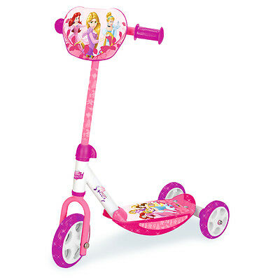 Smoby Disney Princess 3 Wheel Scooter, Kids Stability Adjustable Push Scooter