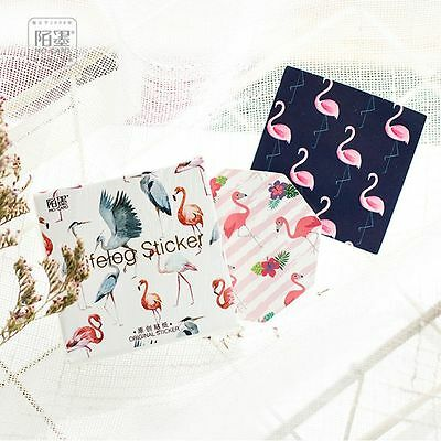 Cartoon Flamingo DIY Scrapbook Paper Lable Stickers Crafts Decor Lifelog Sticker