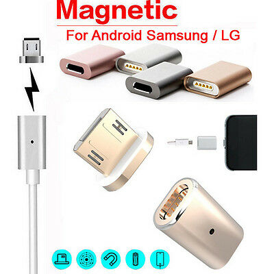 Micro USB Magnetic Adapter Charger Cable Metal Plug For Samsung For LG Android