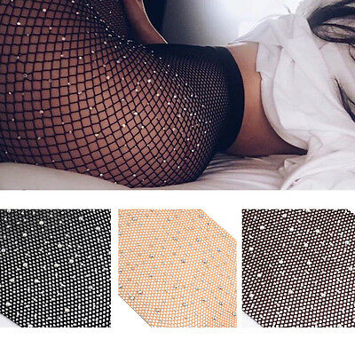 Women Fishnet Tights Net Crystal Burlesque Hosiery Body Stocking Pantyhose