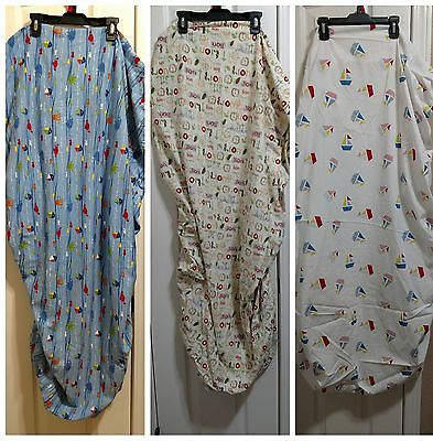 Toddler bed or crib fitted sheets lot of 3 baby boy