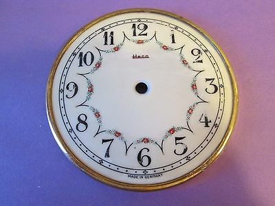 Beautiful Vintage German Heco Porcelain Anniversary Clock Dial With Bezel 4 1/2""