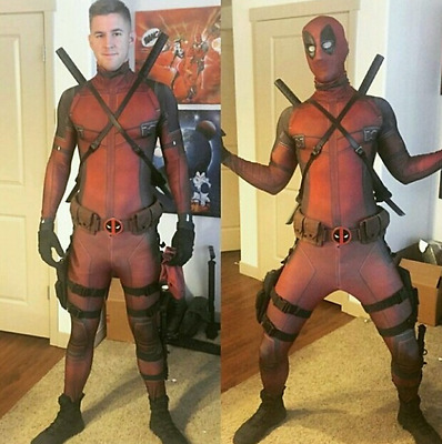 Deadpool Costume Adults Kids Cosplay Tights Clothing Mask Party Fancy Dress New