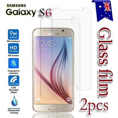 2X Samsung Galaxy S6 Tempered Glass / Plastic Screen Protector Film Guard