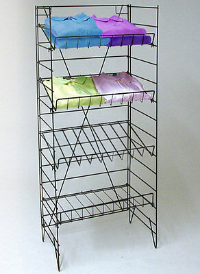 "4 Shelf Wire Rack Retail Store Candy Snack Chips Shirts Display Fixture 55""H NEW"