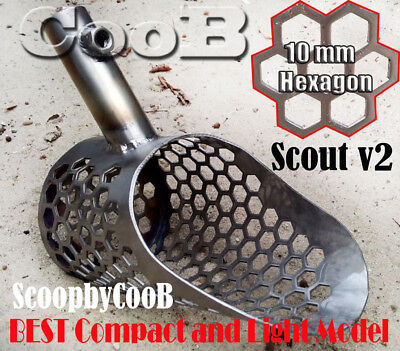 Beach Sand Scoop  SMALL CooB *SCOUT V2* Stainless Steel metal Detector Shovel