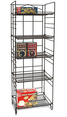 "5 Shelf Wire Rack Retail Store Candy Snack Chips Display Heavy Duty 53""H NEW"
