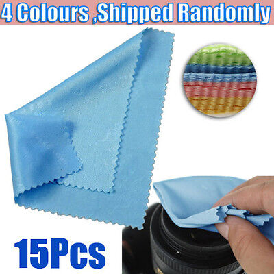 15 x Microfiber Cleaning Cloth Camera Lens Phone Screen Glasses LCD Soft Cleaner