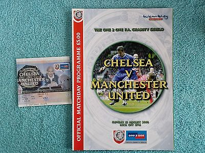 2000 - CHARITY SHIELD PROGRAMME + MATCH TICKET - CHELSEA v MANCHESTER UNITED