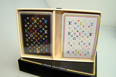 Authentic Louis Vuitton Murakami Multicolore Playing Cards