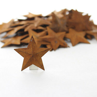 Lot of 200 Rusty Barn Stars 1.5 inch Rustic Primitive Country Rusted SHIPS FREE!