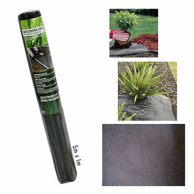Roots Shoots Weed Control Fabric Membrane 5m x 1m Anti UV Treatment 953011 T12
