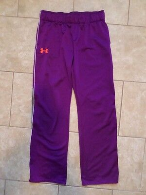 Under Armour Purple & Gray Polyester Fitness Pants. Size Youth XL