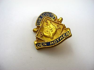 Vintage Collectible Pin: Cub Scouts Den Mother BSA