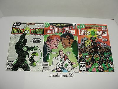 Green Lantern #195 197 & 198 Comic Lot DC 1985 Crisis Tie In Guy Gardner As GL