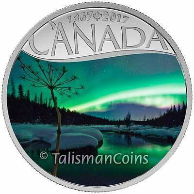 2017 Celebrating Canada's 150th #9 Aurora Borealis Yukon YT $10 Silver Proof