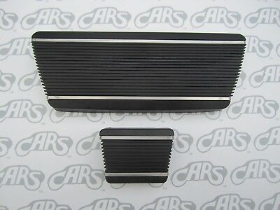 1965-1974 Buick Brake Pedal Cover Set with Stainless Steel Strips