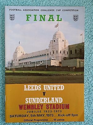 1973 - FA CUP FINAL PROGRAMME - LEEDS UNITED v SUNDERLAND - V.G CONDITION