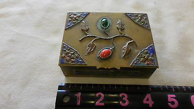 Vintage Beautifully decorated solid brass trinket box