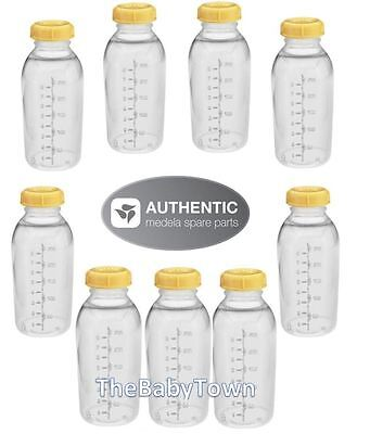 MEDELA 8oz BOTTLE x9 Breastmilk Feeding Collection Storage Bottles & lids 250ml