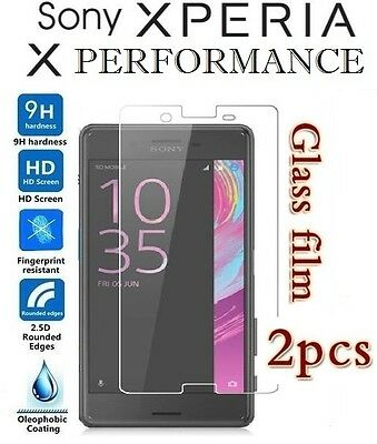 2x Sony Xperia X Performance Tempered Glass / Plastic Screen Protector Film