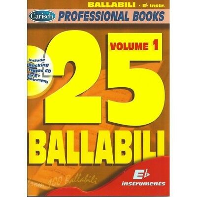 25 Ballabili - Volume 1 Eb  - Professional Books series - CarischLibro + CD