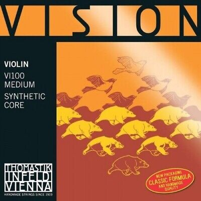 Thomastik Vision Set corde per violino 4/4 VI100 Medium Synthetic Core